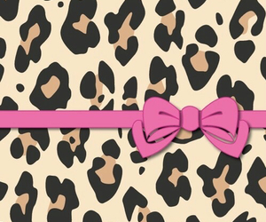 wallpaper, pink, and leopard image