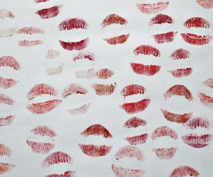 kiss, red, and love image