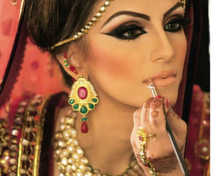 makeup, bride, and indian image