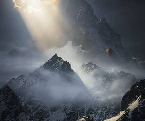 beautiful place, mountains, and light image