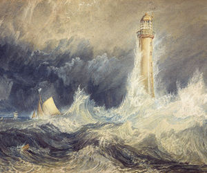 art, lighthouse, and sea image