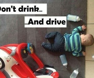 baby, car, and drink image
