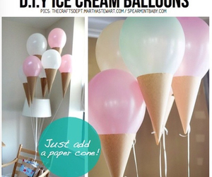 diy, balloons, and ice cream image