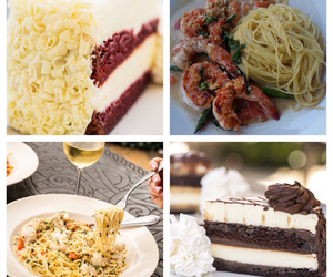 dessert, food, and the cheesecake factory image