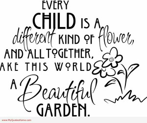 child, beautiful, and flowers image