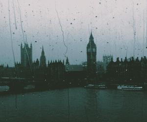 london, rain, and Big Ben image