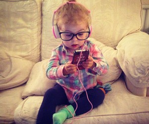 baby, music, and hipster image