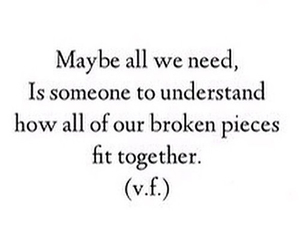 quote, broken, and love image