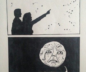 moon, funny, and sad image