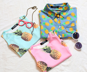 style, pineapple, and shirt image