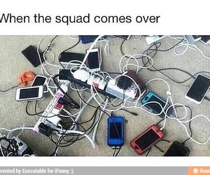 phone, squad, and funny image
