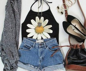 fashion, outfit, and flower image