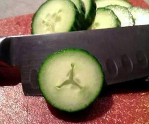 air jordan, funny, and cucumber image