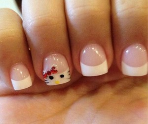 HelloKitty, uñas, and nails image