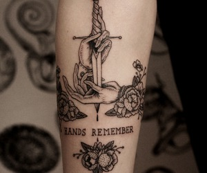 tattoo, hands, and art image