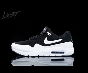 black and white and nike image