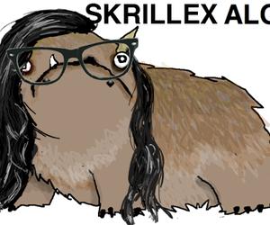 skrillex, alot, and illustration image
