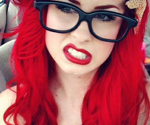red, ariel, and red hair image
