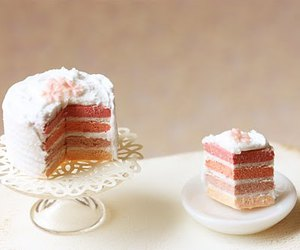 cake, doll, and ombre image