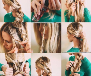braids, side braid, and hair styles image