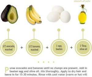 hair, banana, and avocado image