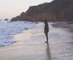 beach, sea, and alone image