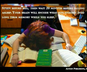 books, quotes, and sleep image