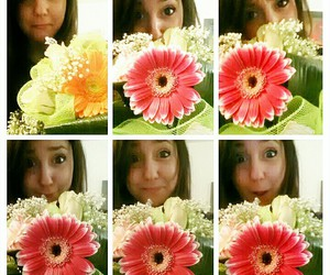 face, flowers, and roses image