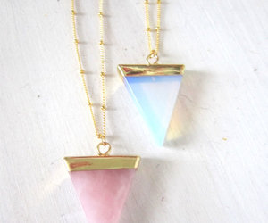 necklace, blue, and pink image