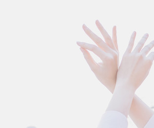 hands, white, and pale image