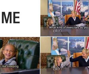 ellen, funny, and sleep image
