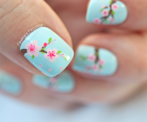 nail art, flowers, and nails image