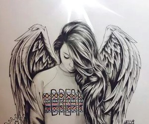 angel, Dream, and drawing image
