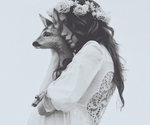 beautiful, clothes, and deer image