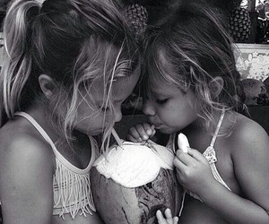 beautiful, children, and black and white image