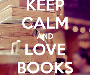 book, love, and keep calm image
