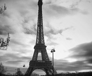 black, eiffel tower, and france image