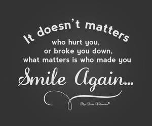 quote, smile, and hurt image