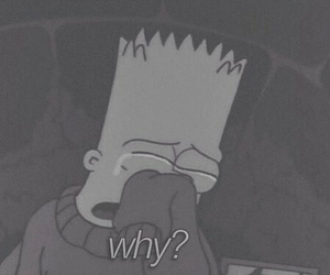 sad, why, and simpsons image