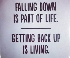 falling, life, and quote image