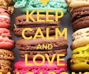 keep calm, macarons, and macaroons image