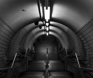 black and white and underground image