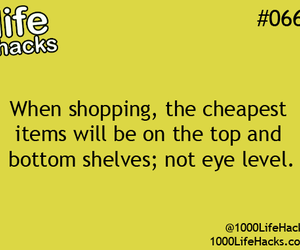 life hacks, shopping, and hacks image