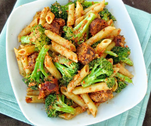 food, pasta, and broccoli image