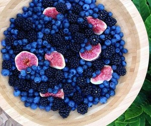 black berry, blueberry, and healthy image