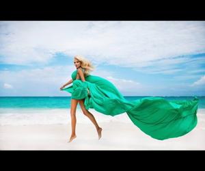 art, beach, and bikini image