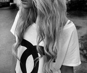 b&w, chanel, and hair image