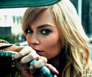 car, margot robbie, and marie claire image