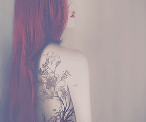 tattoo, red, and art image