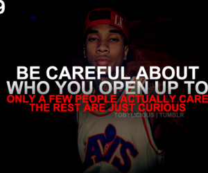 quote, tyga, and be careful image